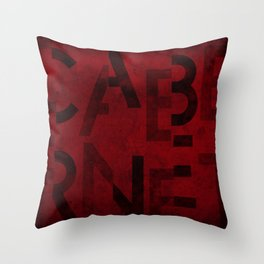 Cabernet Wine Typography Throw Pillow