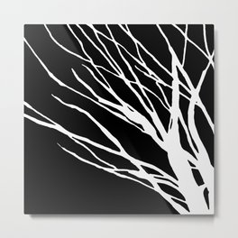Black and White Cookie Blues Metal Print