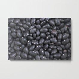 Black beans Metal Print