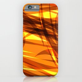 Saturated gold and smooth sparkling lines of metal ribbons on the theme of space and abstraction. iPhone Case