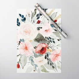 Loose Watercolor Bouquet Wrapping Paper