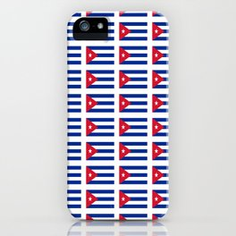 Flag of Cuba 4 -cuban,havana,guevara,che,castro,tropical,central america,spanish,latine iPhone Case