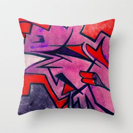 shuteye in red Throw Pillow