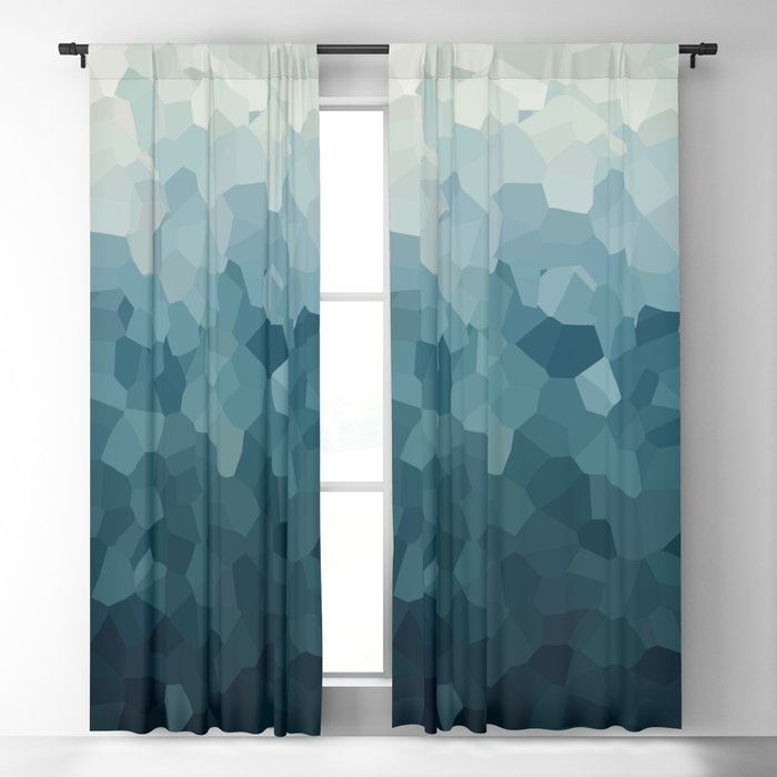 Ice Blue Mountains Moon Love Blackout Curtain
