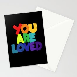 you are loved - rainbow Stationery Cards