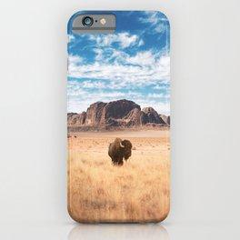 The Lonely Bison, Salt Lake City, Utah-Desert Landscape iPhone Case