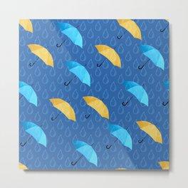 Spring Umbrellas fresh pattern Metal Print