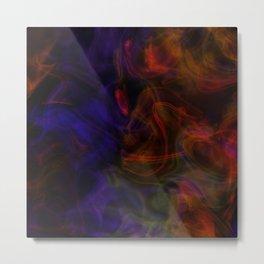 Violet Red Mist Metal Print