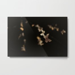 I Am Building A Forest- Paper Butterfly Installation Detail Metal Print