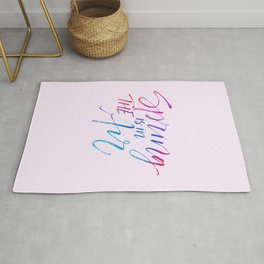 Spring Is Here Typographic Rug