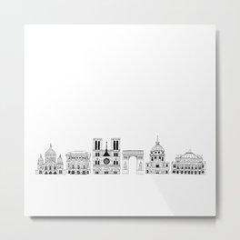 Paris architecture illustration Metal Print