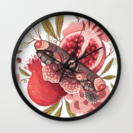 Moth Wings II Wall Clock