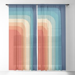 Retro 70s Color Palette III Sheer Curtain