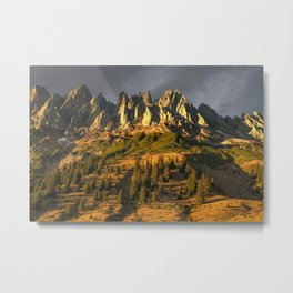 Sunset in Austria Metal Print