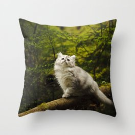 Olivia in the Woods Throw Pillow