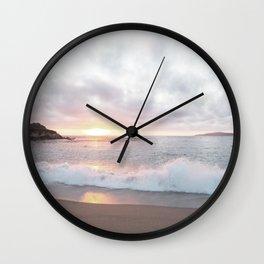Pacific Coast Sunset at Monterey California Wall Clock