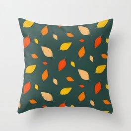 Minimal Fall Leaves  Throw Pillow
