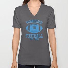 Tennessee Football Fan Gift Present Idea Unisex V-Neck