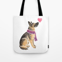 Watercolour German Shepherd Dog Tote Bag