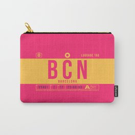 Baggage Tag B - BCN Barcelona El Prat Spain Carry-All Pouch