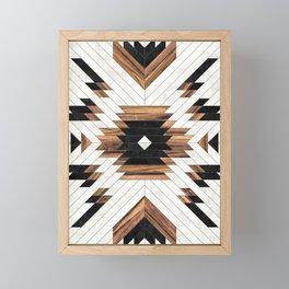 Urban Tribal Pattern No.5 - Aztec - Concrete and Wood Framed Mini Art Print