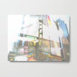 SF to NY Metal Print
