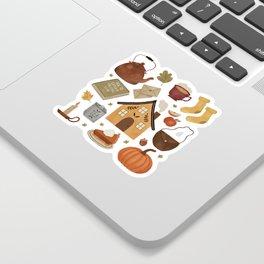 Autumn Cottage Days Sticker