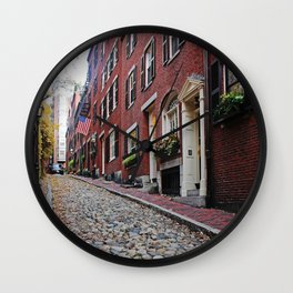 Acorn street views Wall Clock