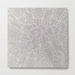 Minimalist Tiger Metal Print