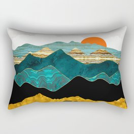 Turquoise Vista Rectangular Pillow