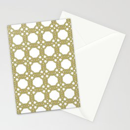 Gold & White Knotted Design Stationery Cards
