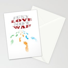 just love not war Stationery Cards