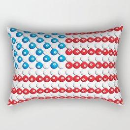 Pool Ball Billards American Flag Rectangular Pillow