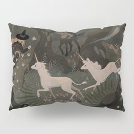 Spooky Forest with Ghosts Pillow Sham