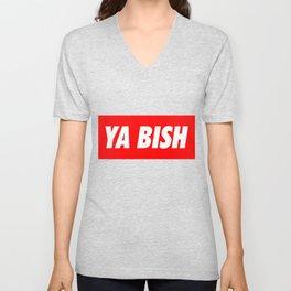 Ya Bish Typography Unisex V-Neck