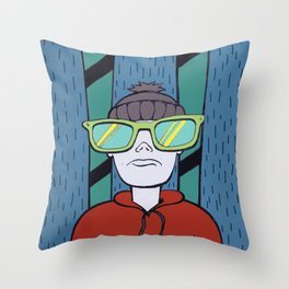 Bad day to ski Throw Pillow