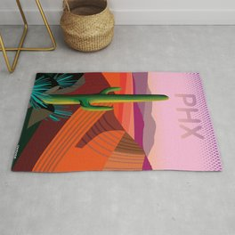 Phoenix Arizona Travel Poster Rug