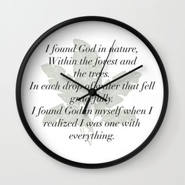 I Found God Wall Clock