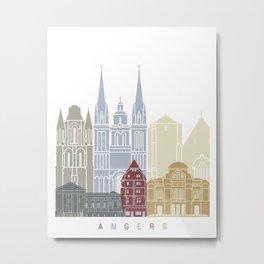 Angers skyline poster Metal Print