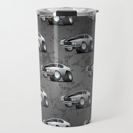 Classic Seventies American Muscle Car Cartoon Travel Mug