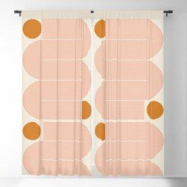 Abstraction_SUN_LINE_ART_Minimalism_002 Blackout Curtain