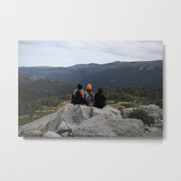 Friends on the mountain Metal Print