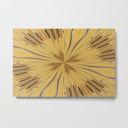 Yellow and Ochre Flower Pattern Abstract 2 Metal Print