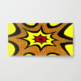 Comic Book Abstract Metal Print