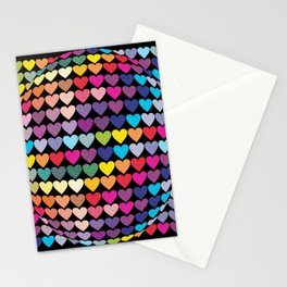 Love Heart Colour Abstract Art Stationery Cards