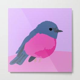 Little pink bird Metal Print