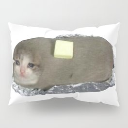 Crying Baked Potato Cat with Butter? Pillow Sham