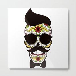 Mr. Sugar Skull Metal Print