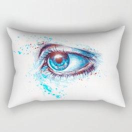 Deep Blue Eyes Rectangular Pillow