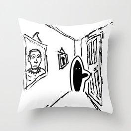 Shadow Person Throw Pillow
